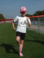 A youngster runs to raise funds for Action for Children