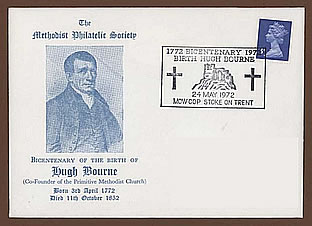 First Day Cover commemorating Hugh Bourne