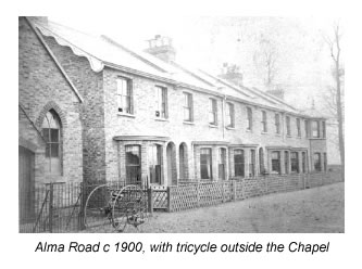 Alma Road and church about 1900