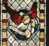 A second stained glass window in the church