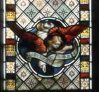 A third stained glass window in the church