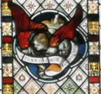 And a fourth stained glass window