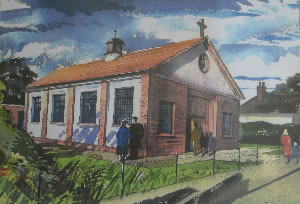 Painting of Woodlands Park Chapel, 1935